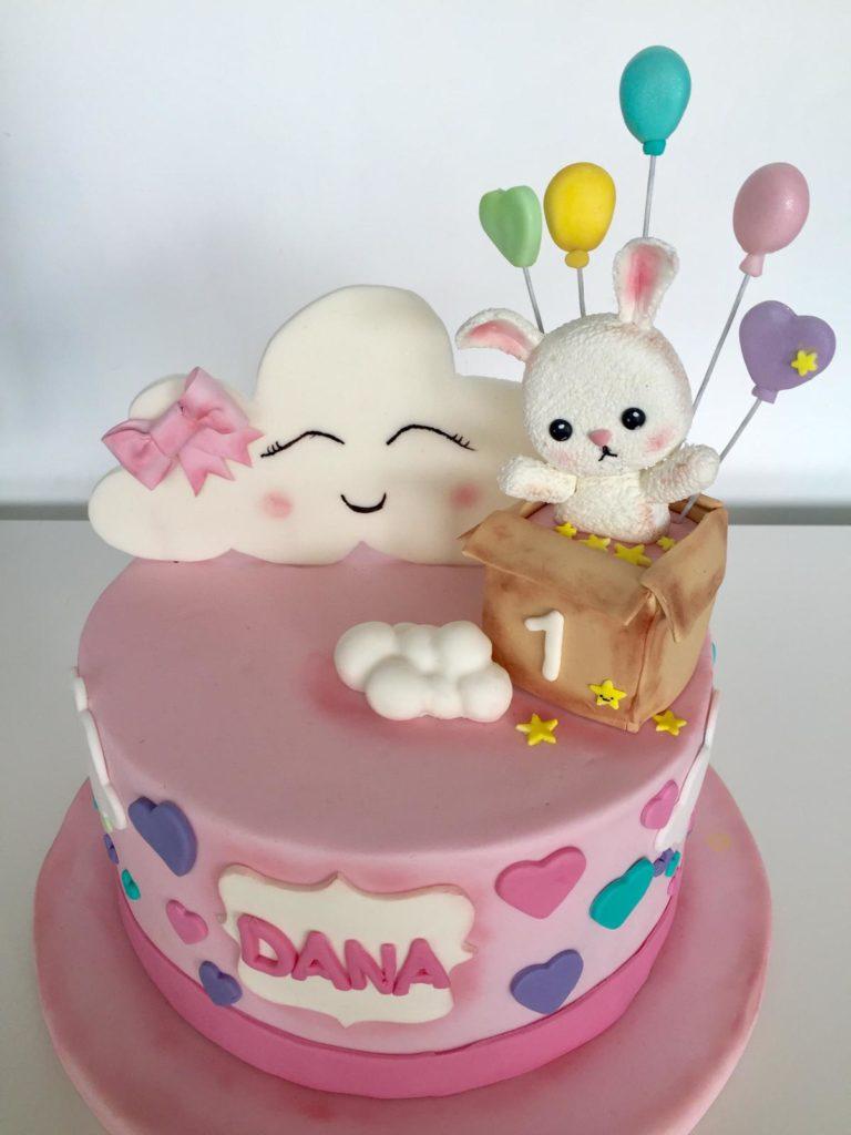 Pastel Nube Y Conejo
